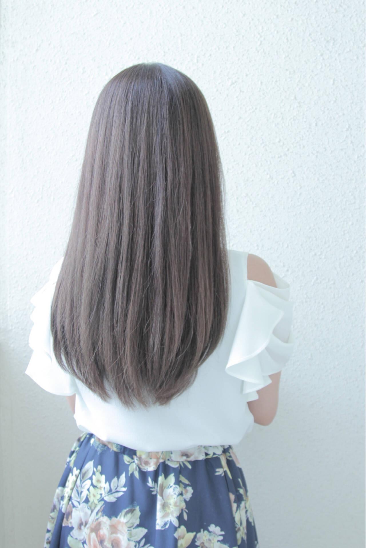 ダークアッシュ アッシュブラウン アッシュグレージュ ナチュラルヘアスタイルや髪型の写真・画像