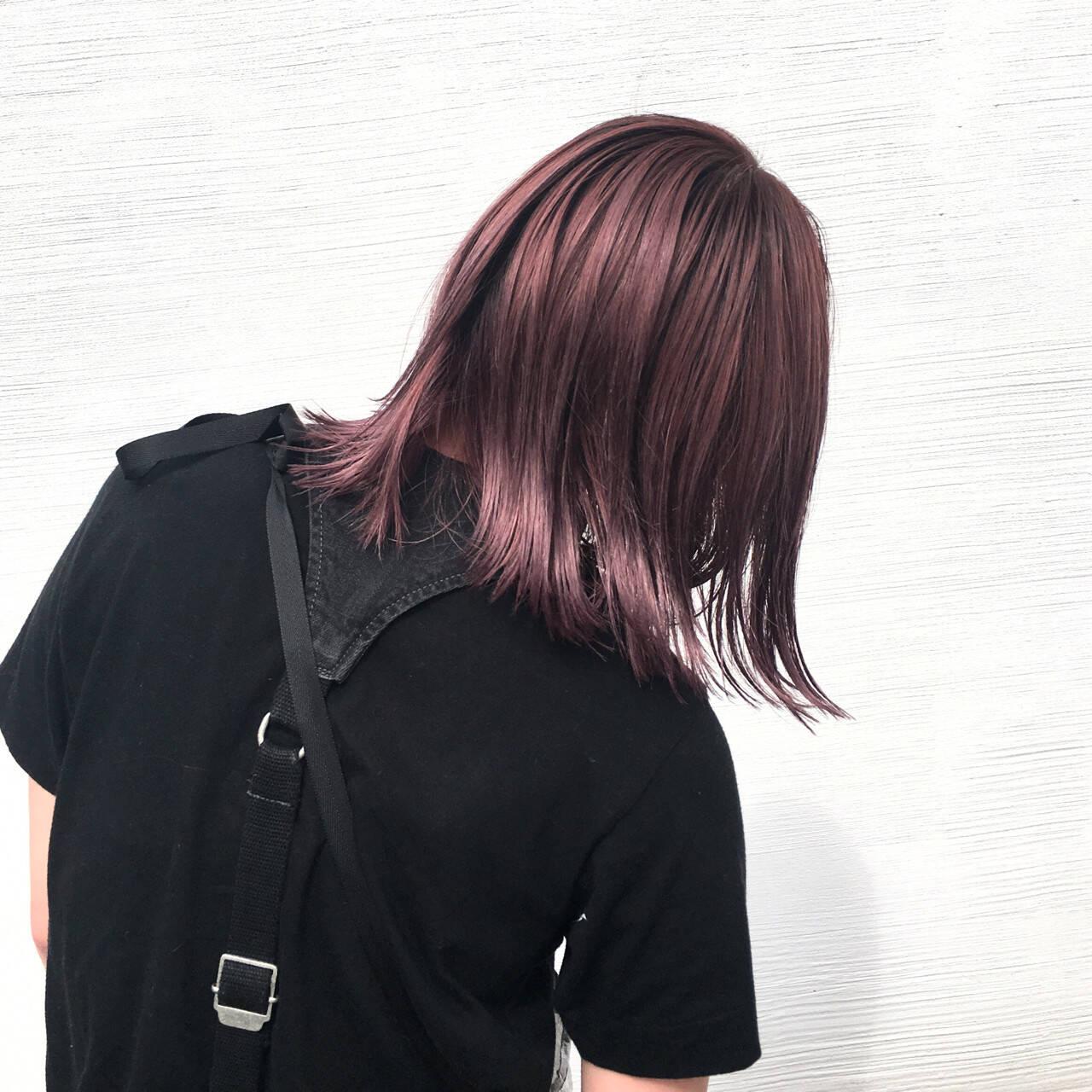ブリーチ ダブルカラー モード ハイトーンヘアスタイルや髪型の写真・画像