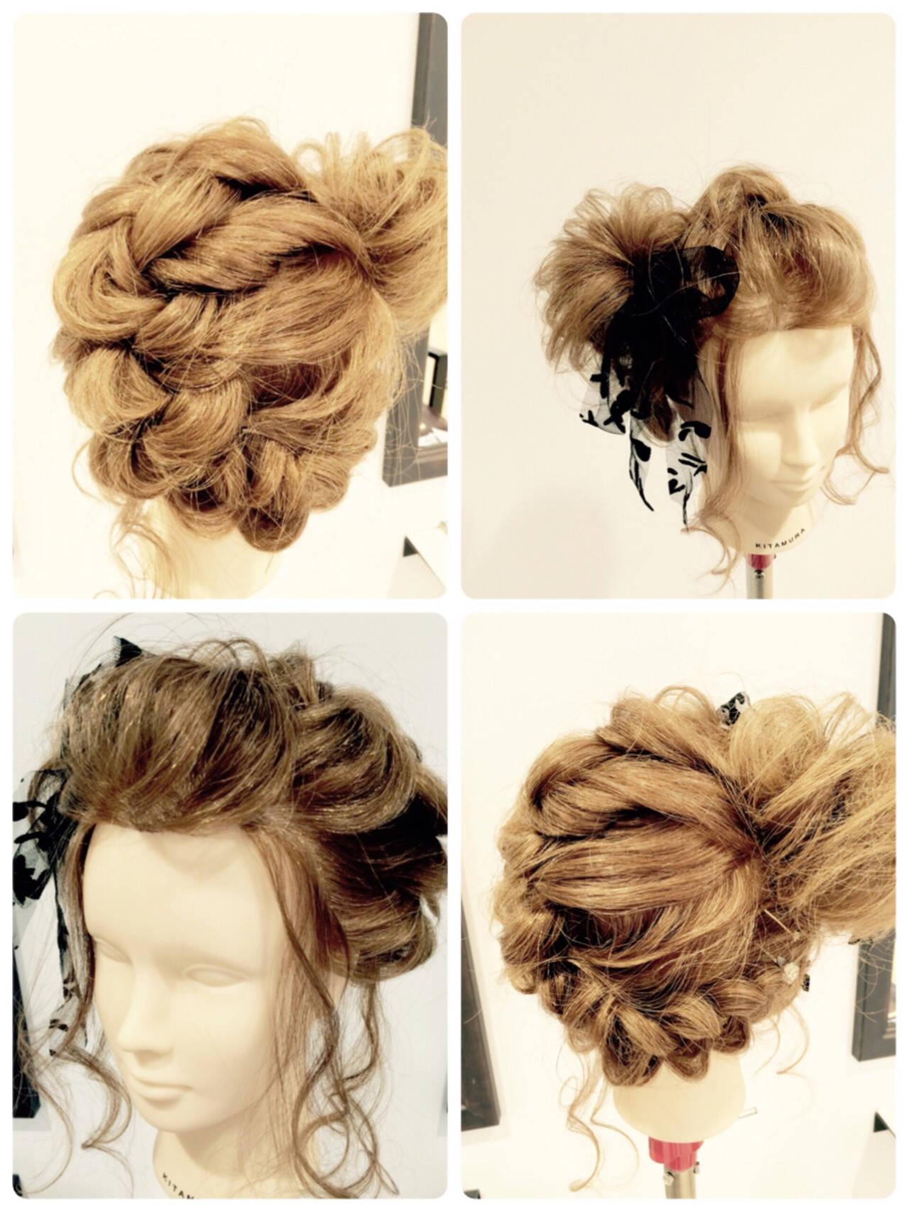編み込み 夏 花火大会 ロングヘアスタイルや髪型の写真・画像