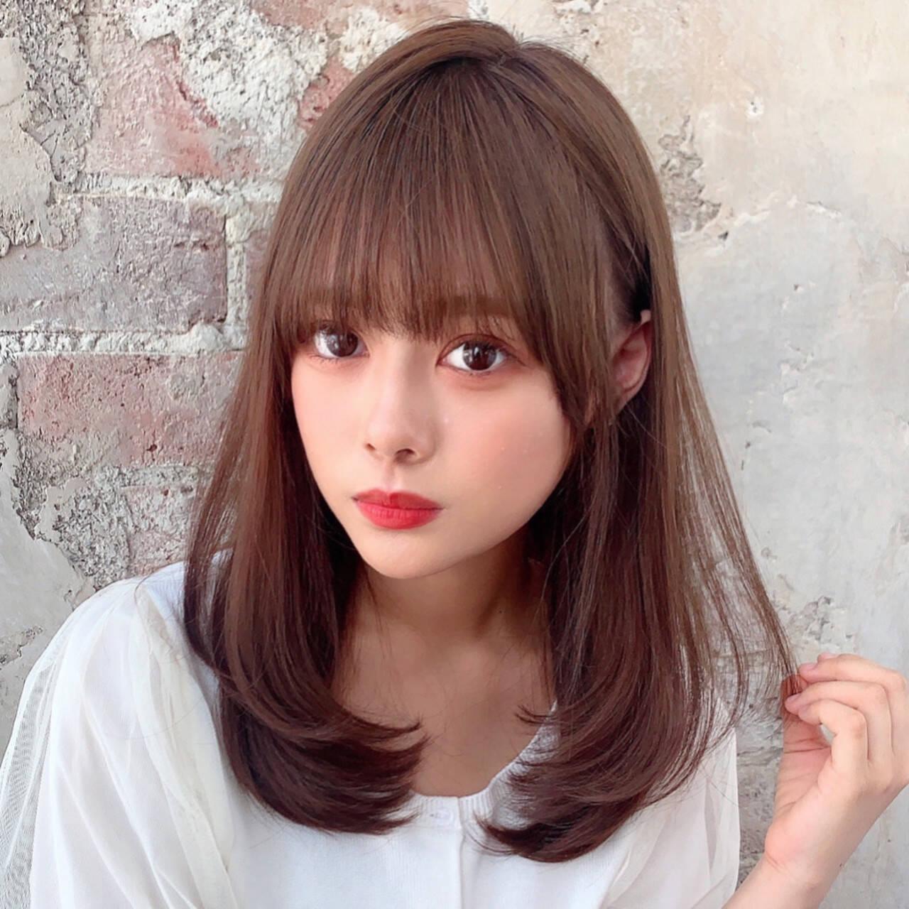 モテ髪  セミロング ナチュラルヘアスタイルや髪型の写真・画像