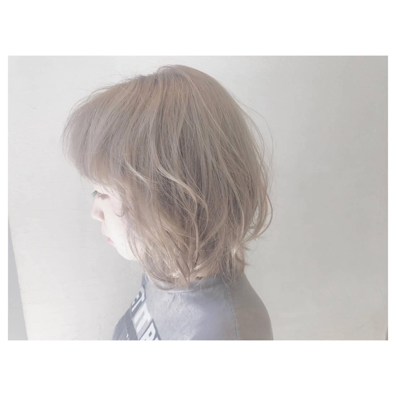 アウトドア ストリート デート ボブヘアスタイルや髪型の写真・画像