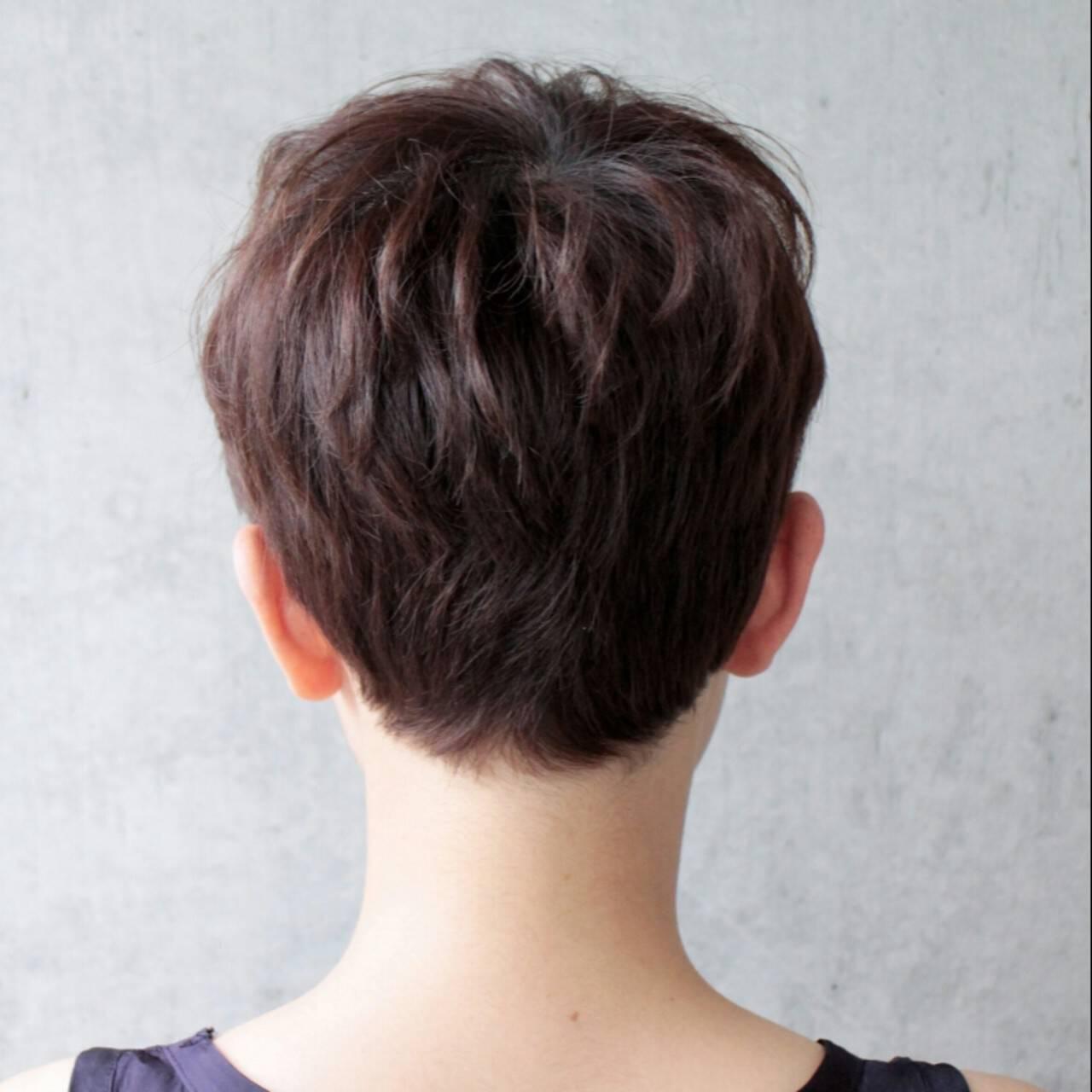 ナチュラル ショート 大人かわいい ベリーショートヘアスタイルや髪型の写真・画像