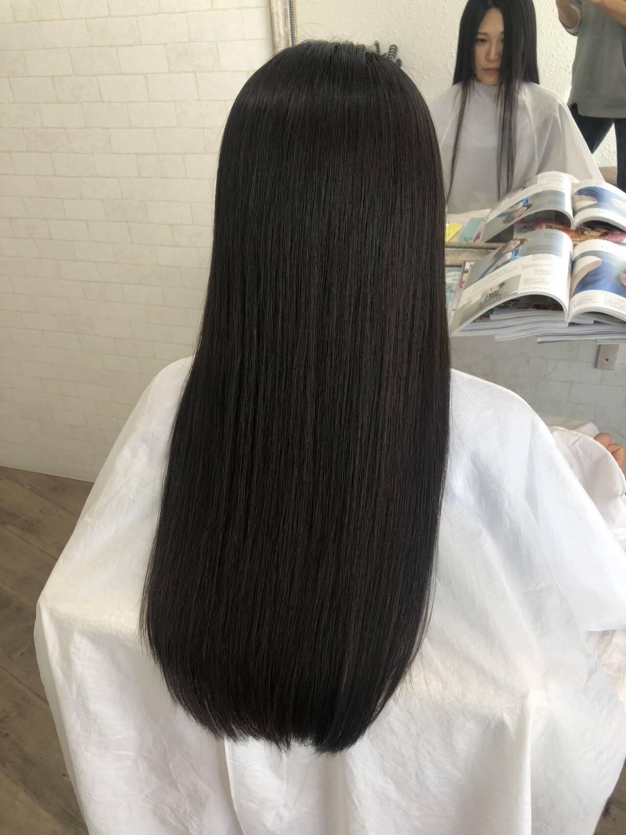 縮毛矯正ストカール 縮毛矯正名古屋市 艶髪 ナチュラルヘアスタイルや髪型の写真・画像