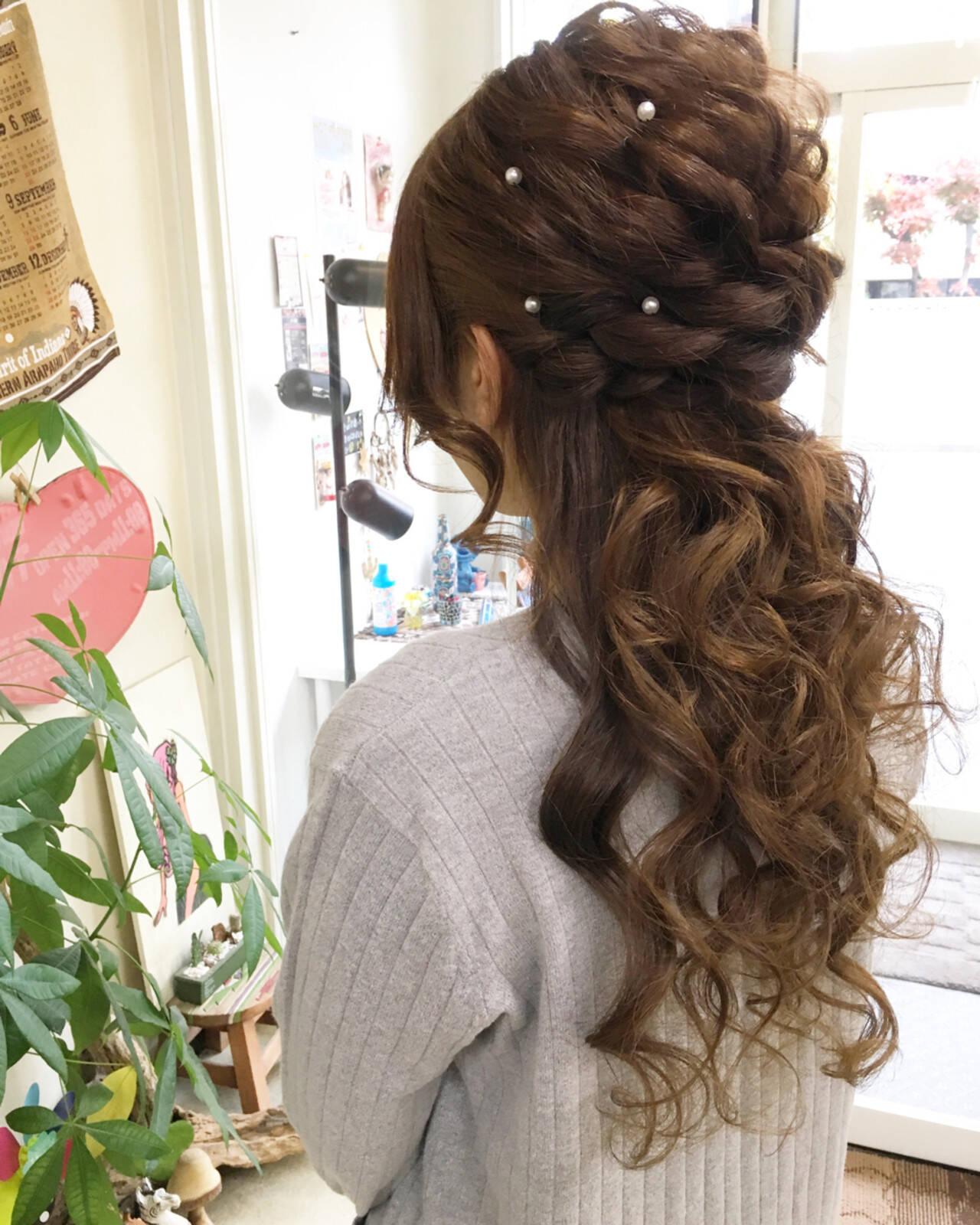 フェミニン ロング パーティ ラフヘアスタイルや髪型の写真・画像