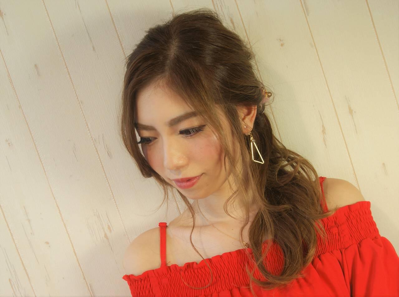 デート ヘアアレンジ 夏 ロングヘアスタイルや髪型の写真・画像