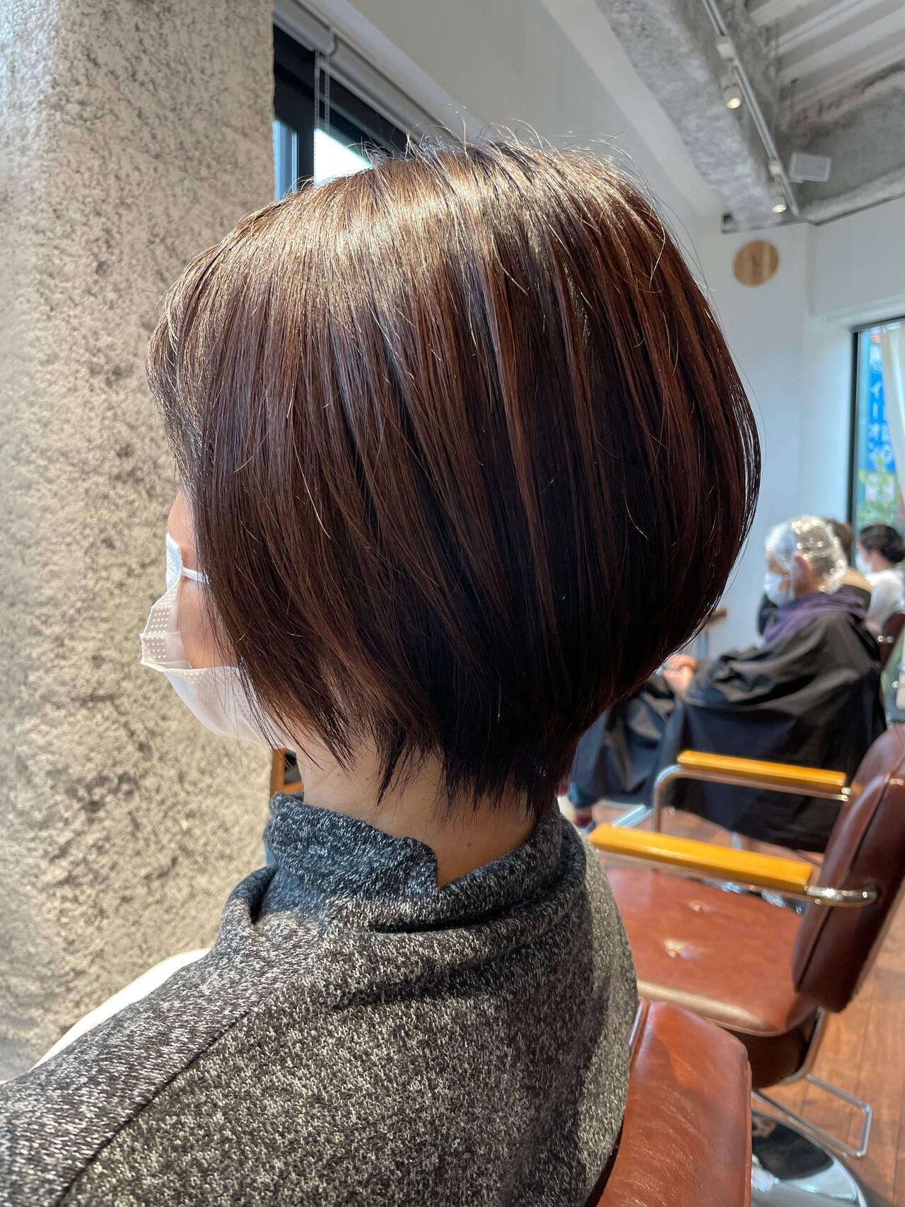 ショート 夏 40代 ショートヘアヘアスタイルや髪型の写真・画像