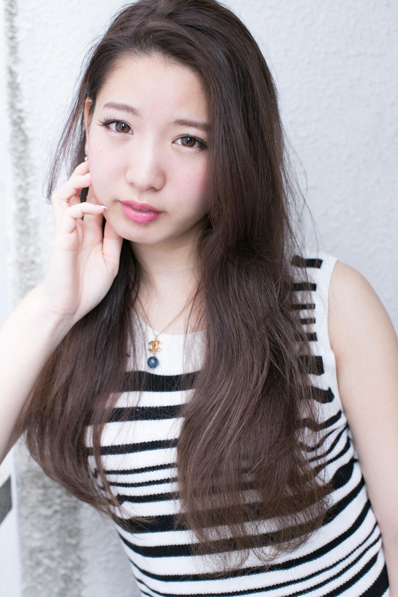 外国人風 ロング 大人かわいい ストリートヘアスタイルや髪型の写真・画像