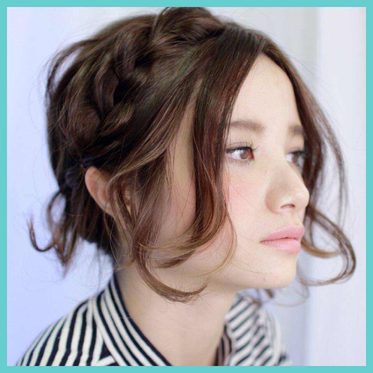 ストリート モテ髪 ミディアム 春ヘアスタイルや髪型の写真・画像