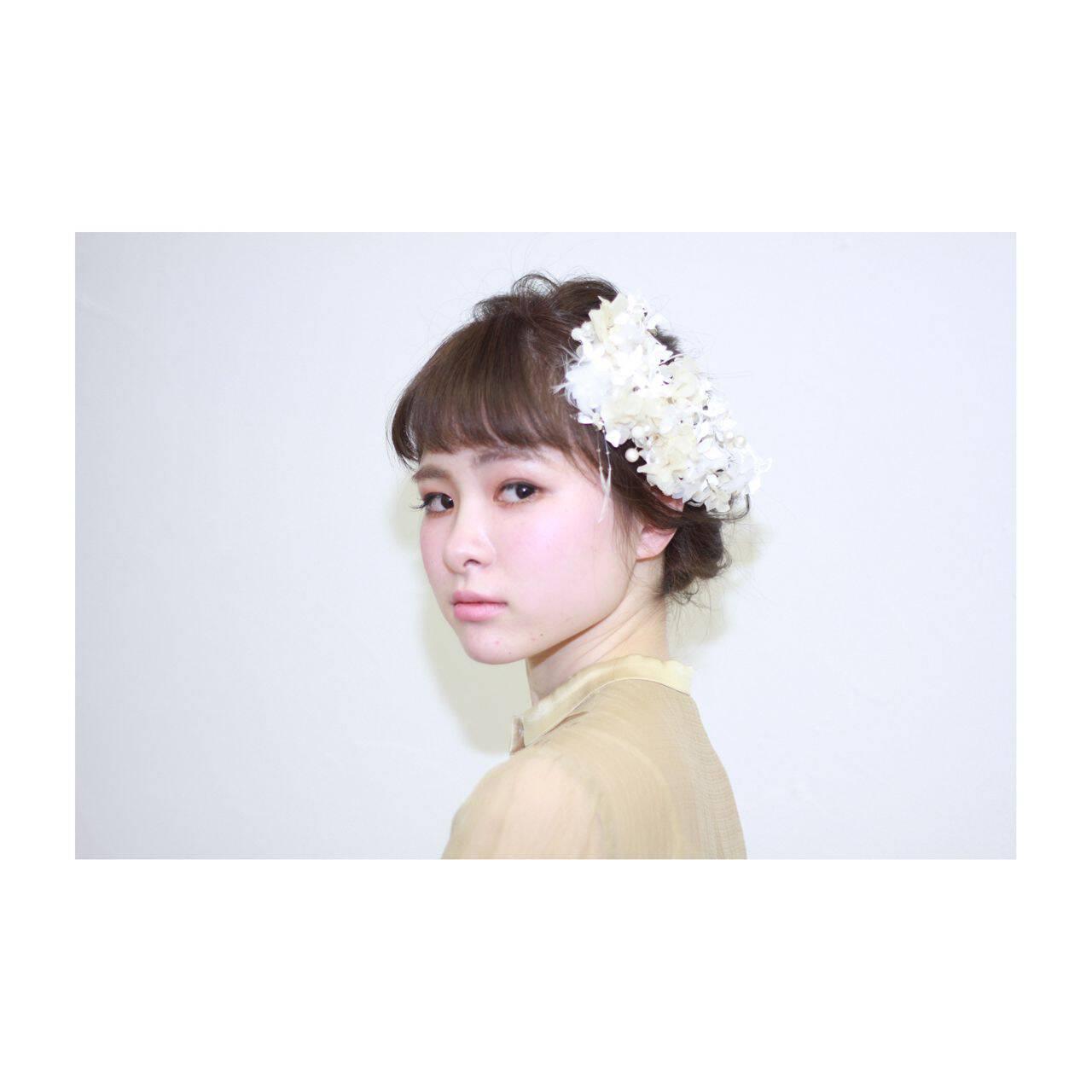 コンサバ ショート ボブ 簡単ヘアアレンジヘアスタイルや髪型の写真・画像