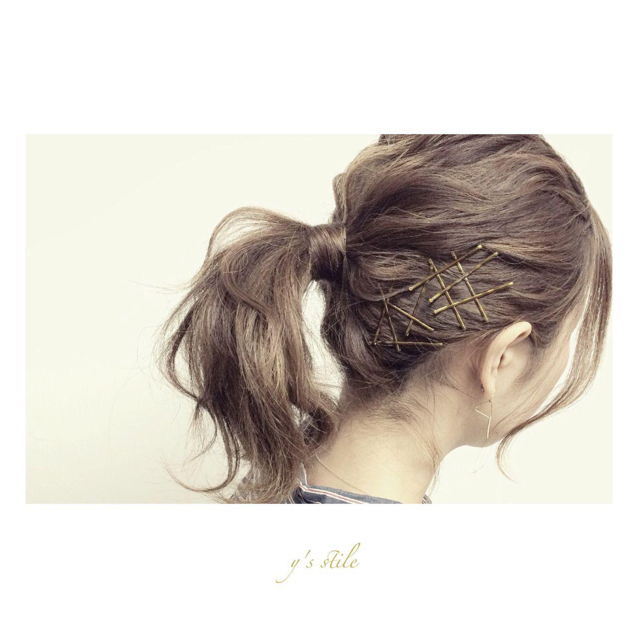 ナチュラル 春 アップスタイル ヘアアレンジヘアスタイルや髪型の写真・画像