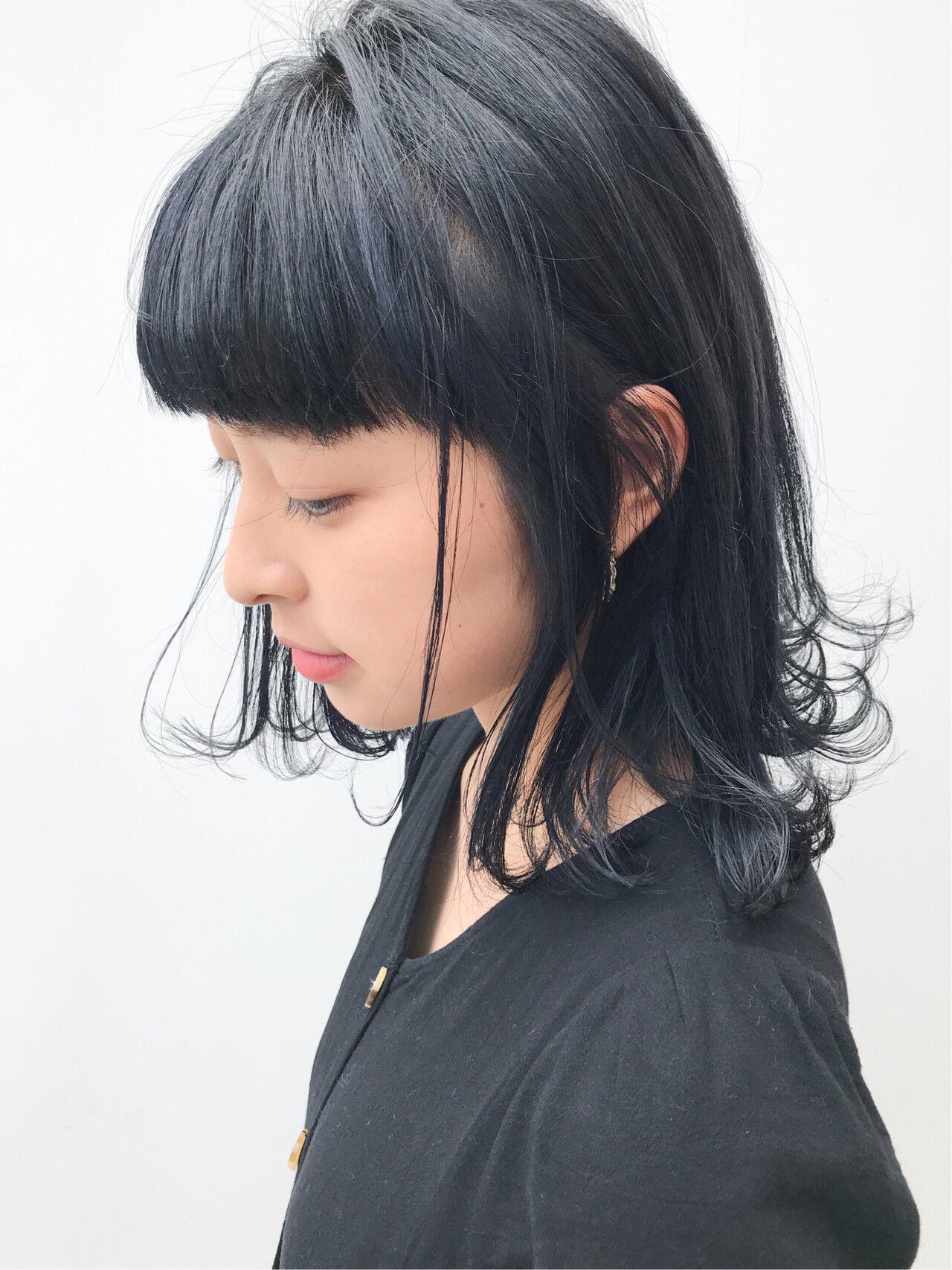 デート ミディアム 外ハネ ガーリー ヘアスタイルや髪型の写真・画像