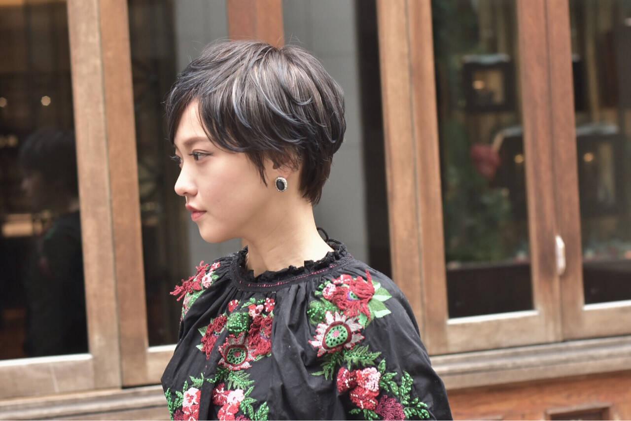 ハイライト 外国人風 ショート ベリーショートヘアスタイルや髪型の写真・画像