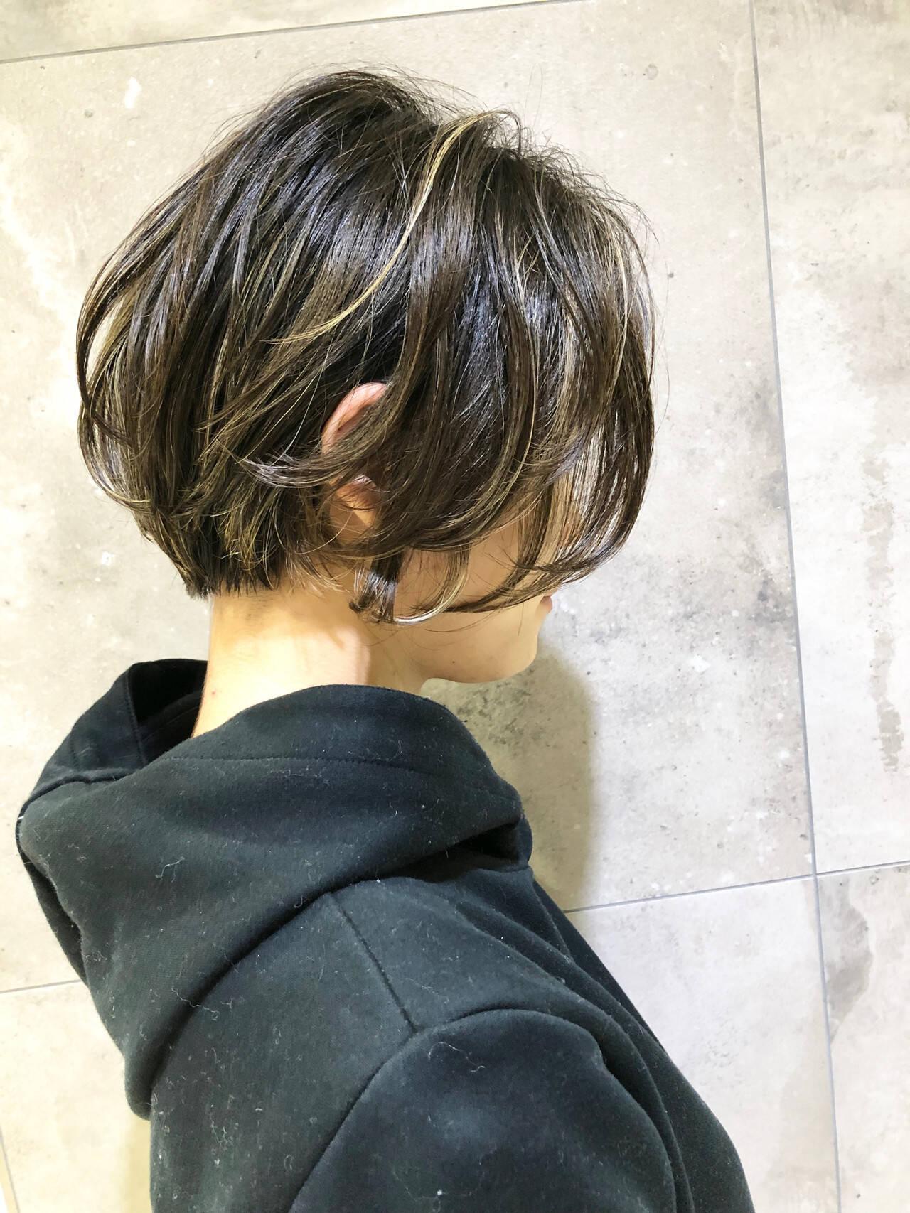 パーマ ショート ナチュラル デジタルパーマヘアスタイルや髪型の写真・画像