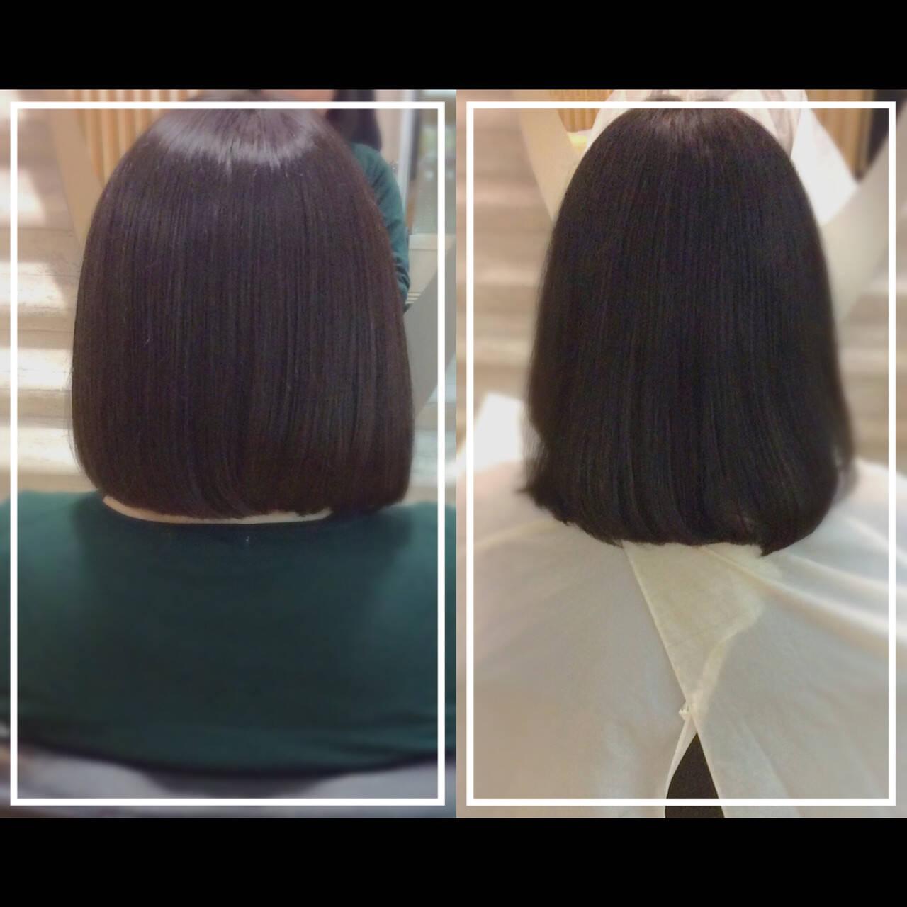 髪質改善 社会人の味方 大人ヘアスタイル 髪質改善トリートメントヘアスタイルや髪型の写真・画像