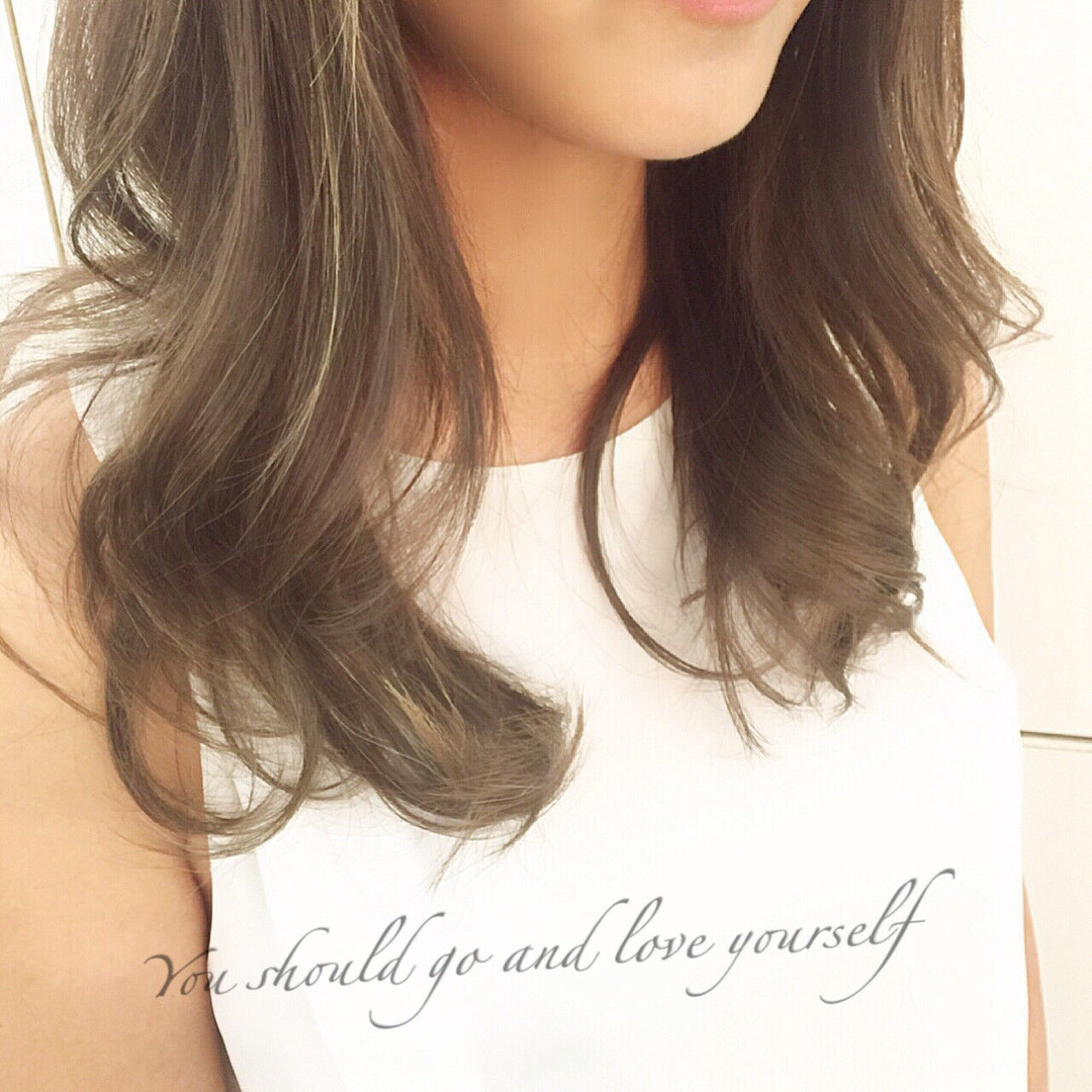 大人かわいい グラデーションカラー ハイライト ブラウンヘアスタイルや髪型の写真・画像