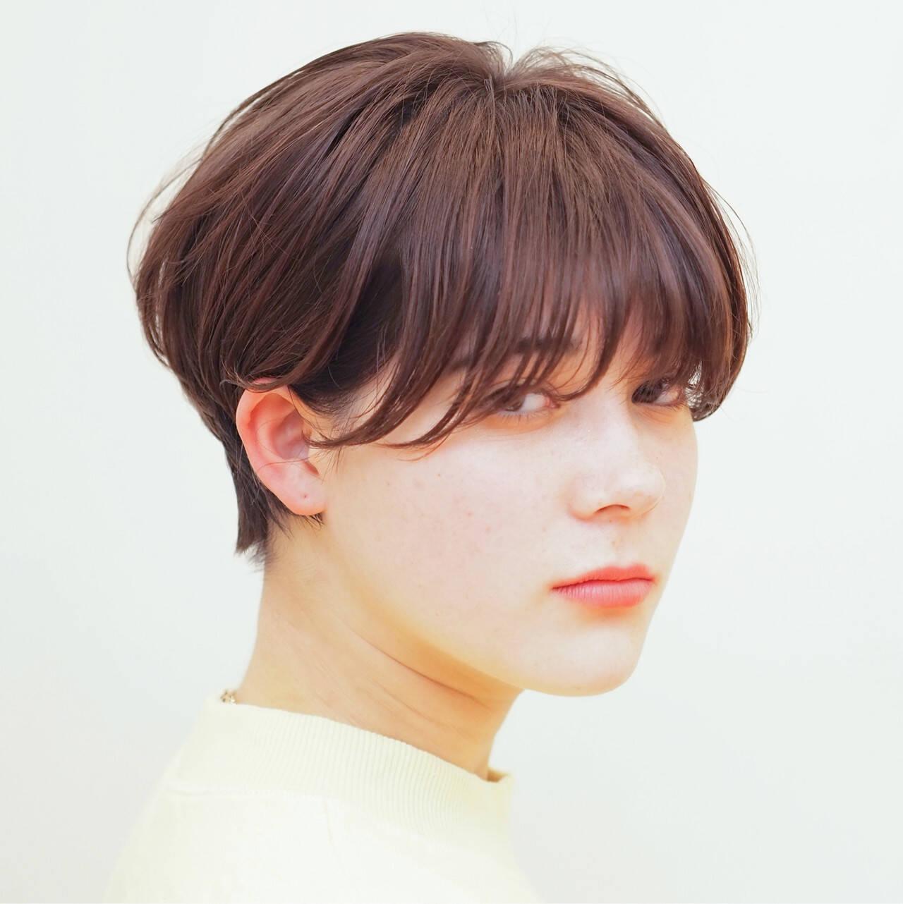 ショートボブ ショートヘア マッシュショート 大人ショートヘアスタイルや髪型の写真・画像