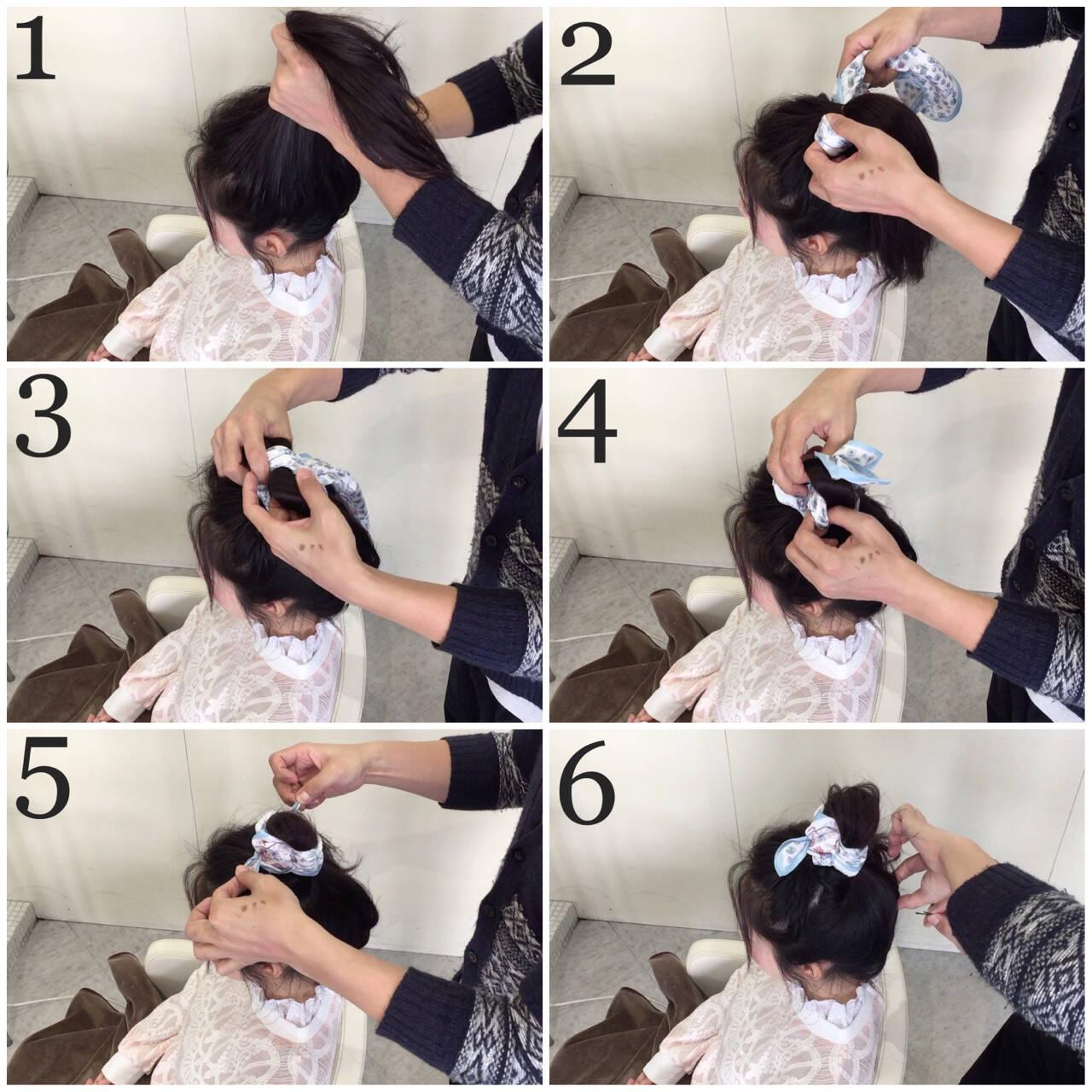 ヘアアクセ 簡単ヘアアレンジ ロング ガーリーヘアスタイルや髪型の写真・画像