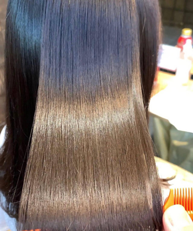 髪質改善 髪質改善トリートメント 最新トリートメント 縮毛矯正ヘアスタイルや髪型の写真・画像
