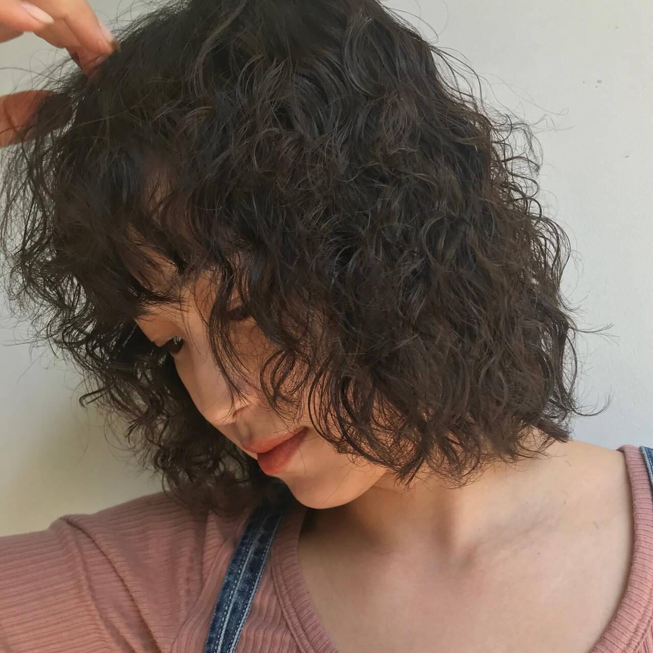 ゆるふわパーマ 大人かわいい くせ毛風 パーマヘアスタイルや髪型の写真・画像