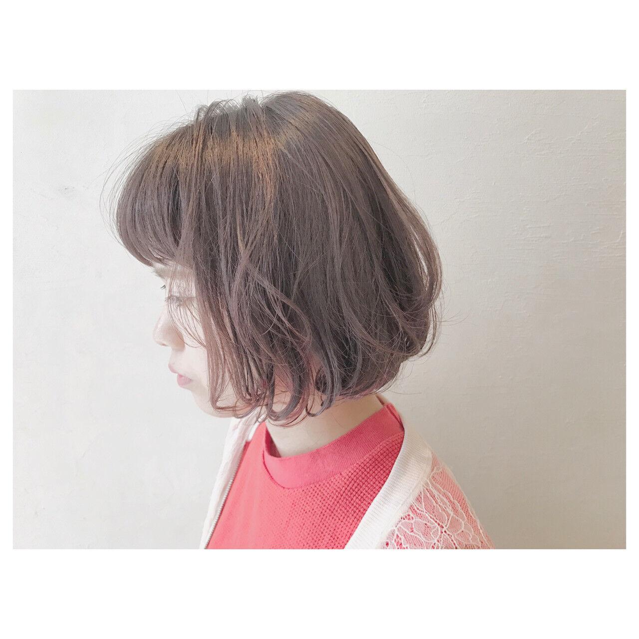 ピンク ウェーブ ストリート ゆるふわヘアスタイルや髪型の写真・画像