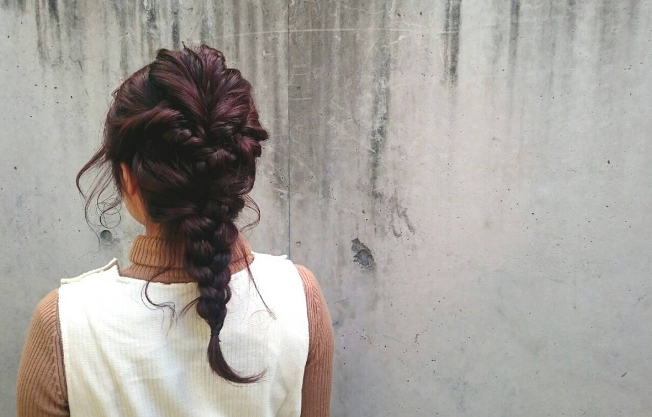 簡単ヘアアレンジ ストリート 編み込み ヘアアレンジヘアスタイルや髪型の写真・画像