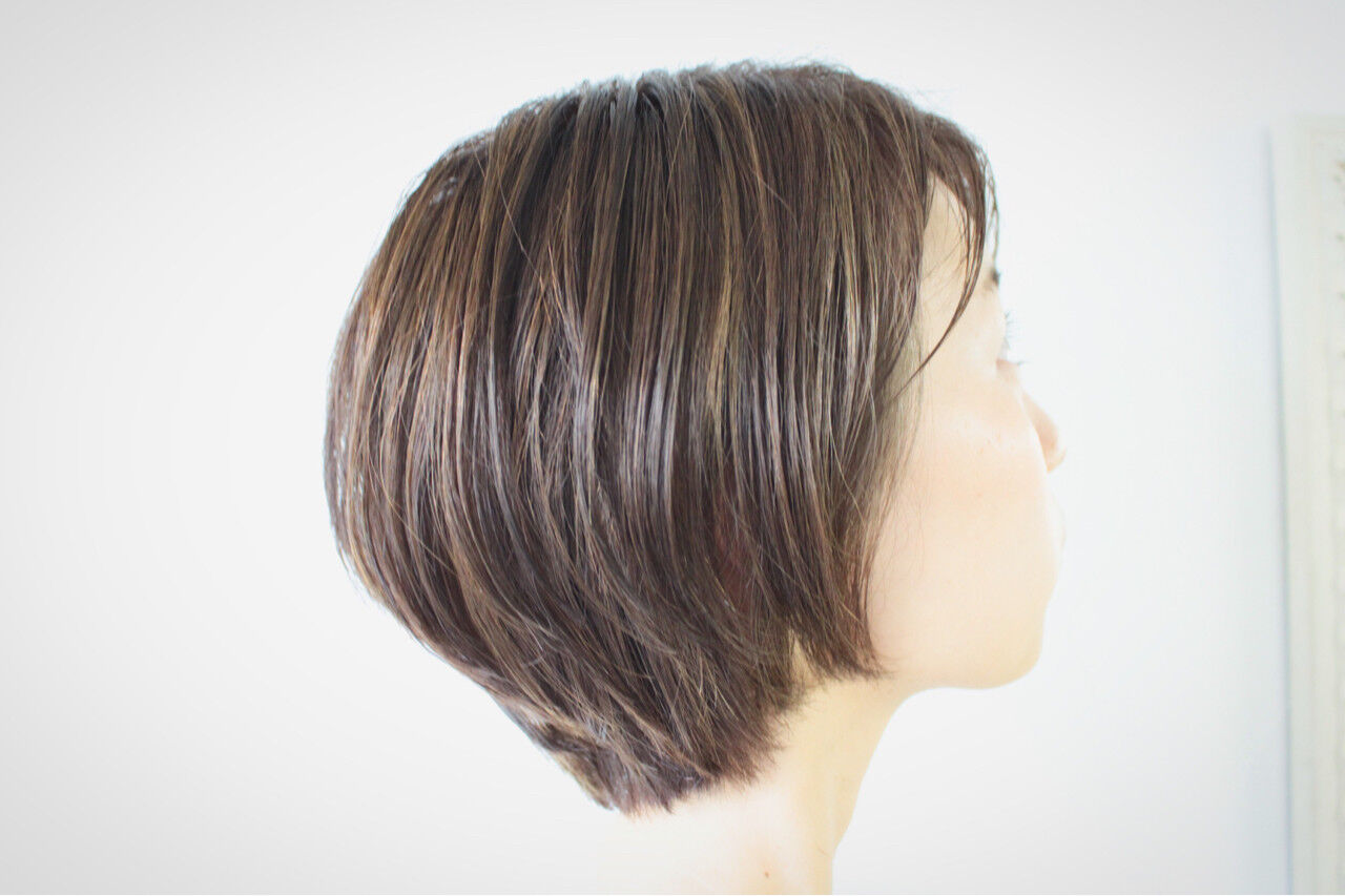 ハイライト 大人女子 外国人風 ボブヘアスタイルや髪型の写真・画像
