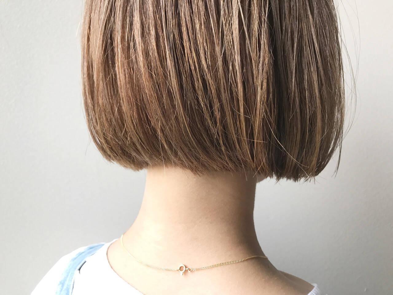透明感カラー ナチュラル ボブ 透明感ヘアスタイルや髪型の写真・画像