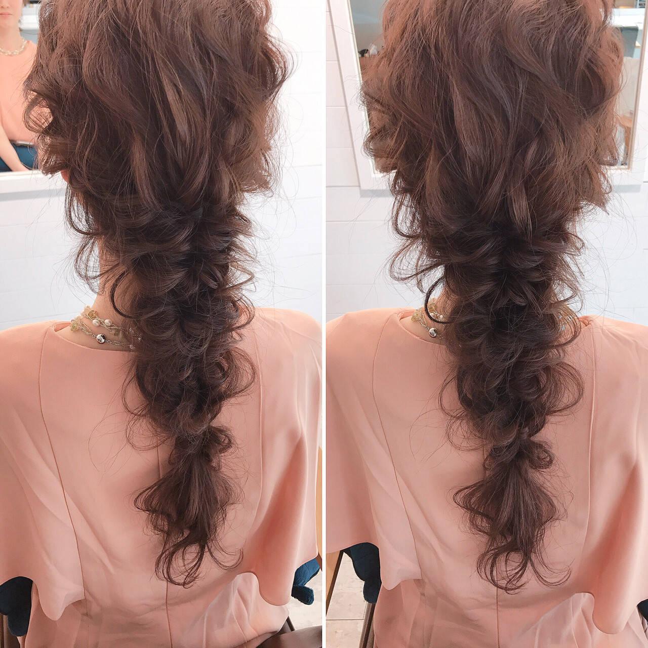 編み込み ミルクティー 上品 ヘアアレンジヘアスタイルや髪型の写真・画像