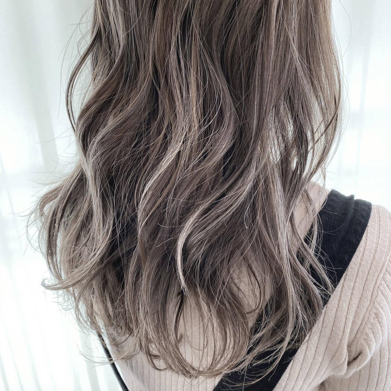 ハイトーン ガーリー ハイライト 3Dハイライトヘアスタイルや髪型の写真・画像
