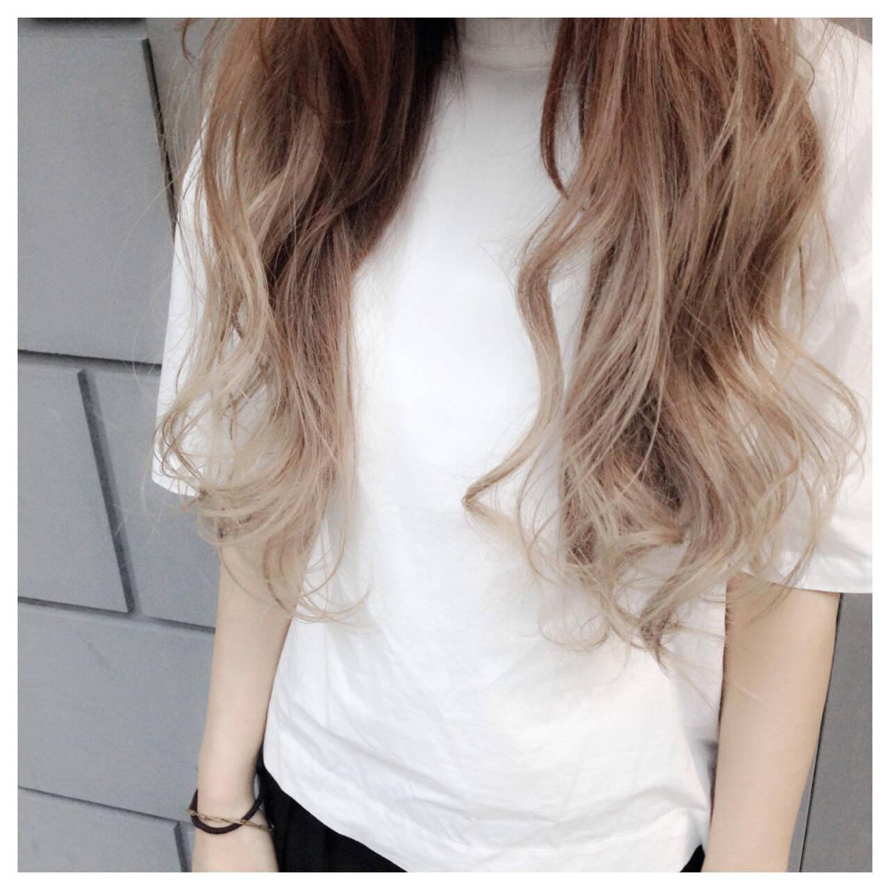 アッシュ ミルクティー ホワイトアッシュ ストリートヘアスタイルや髪型の写真・画像