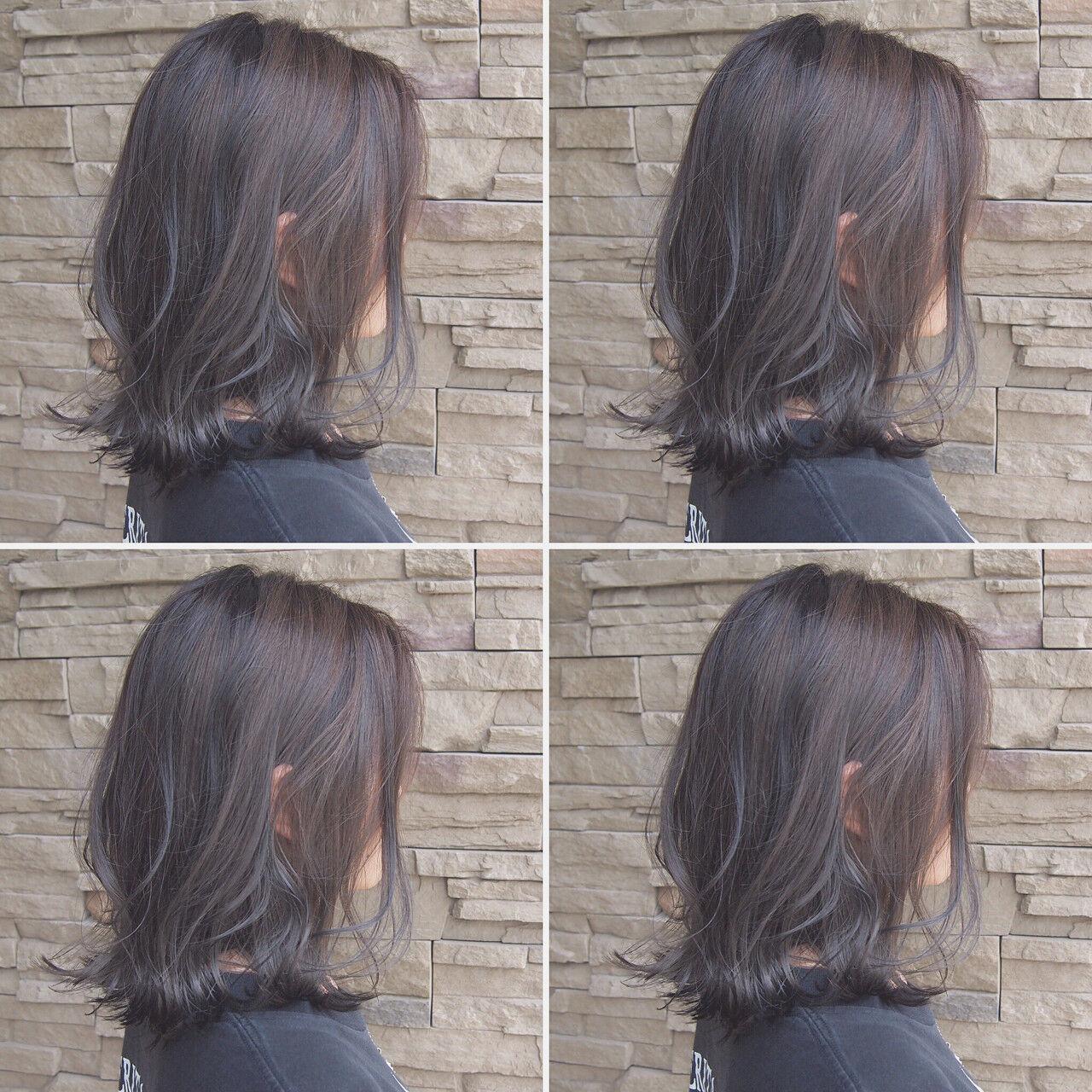 大人かわいい ボブ デート ハイライトヘアスタイルや髪型の写真・画像