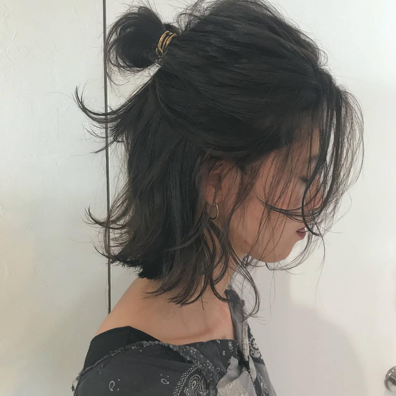 ゆるふわ 結婚式 ナチュラル ロブヘアスタイルや髪型の写真・画像