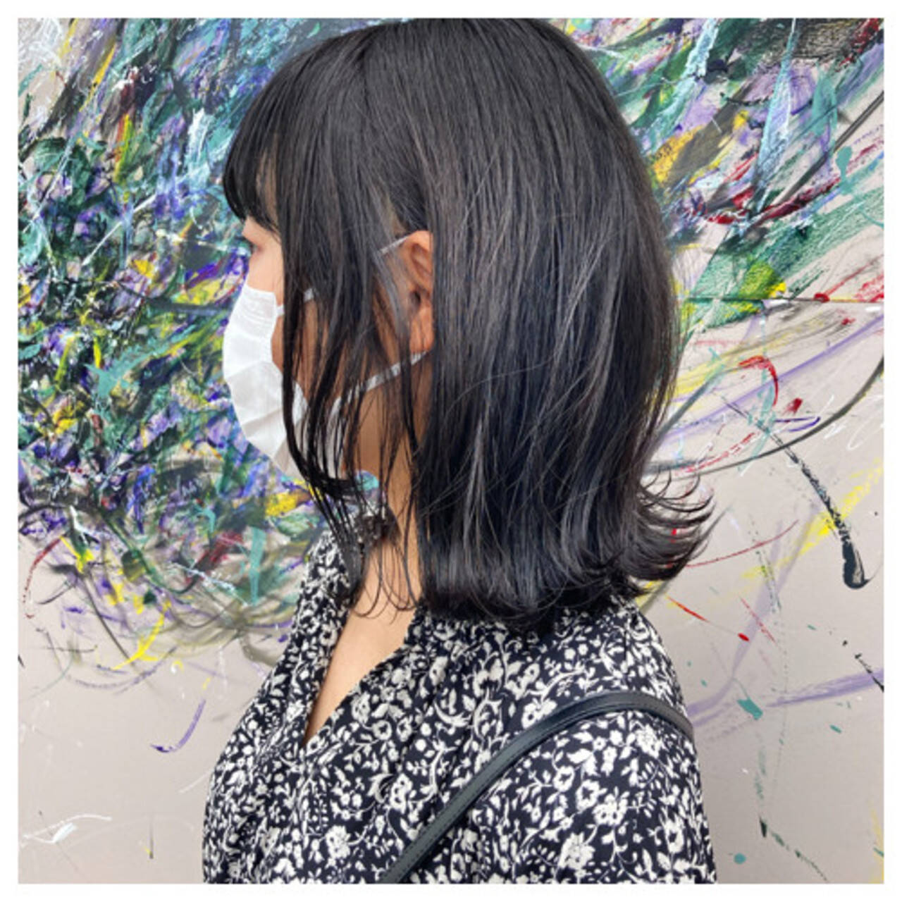 タンバルモリ ボブ 切りっぱなしボブ フェミニンヘアスタイルや髪型の写真・画像