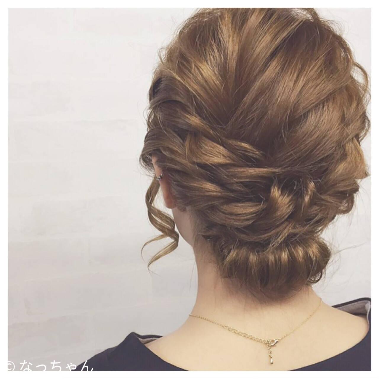 ボブ 結婚式 アップスタイル パーティヘアスタイルや髪型の写真・画像
