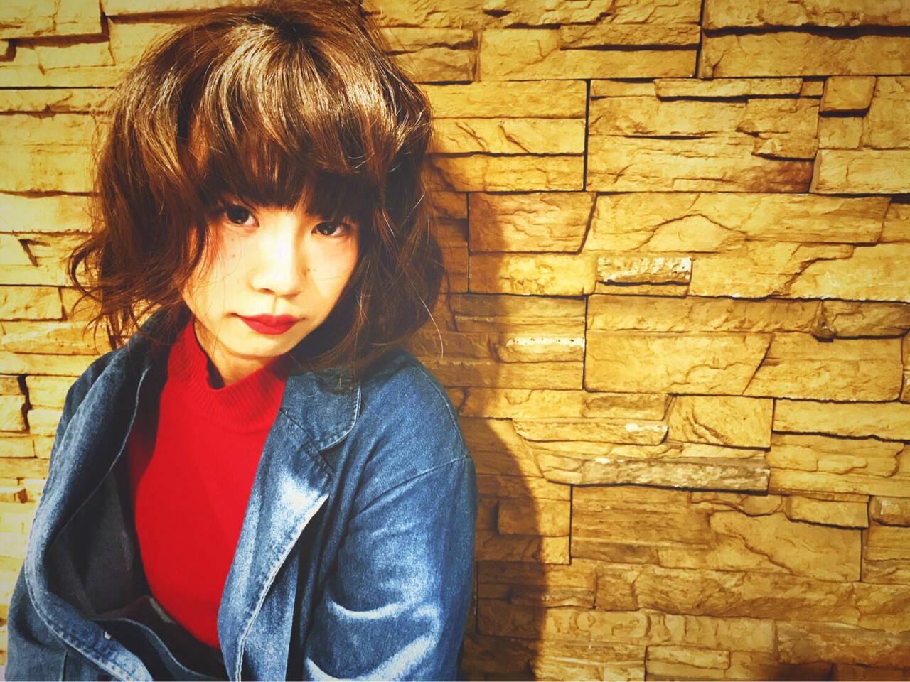 ガーリー ボブ ふわふわ かわいいヘアスタイルや髪型の写真・画像