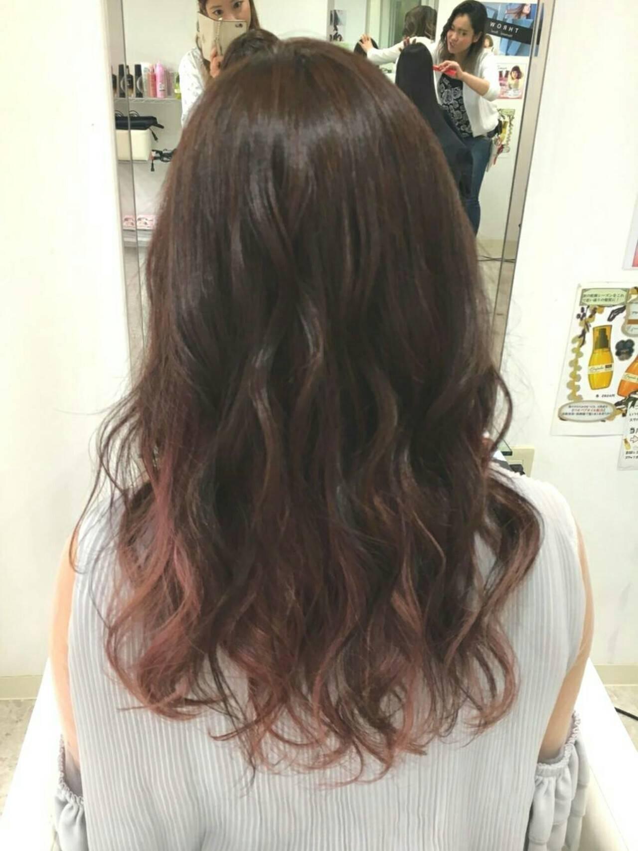 ピンク ナチュラル デート 女子会ヘアスタイルや髪型の写真・画像