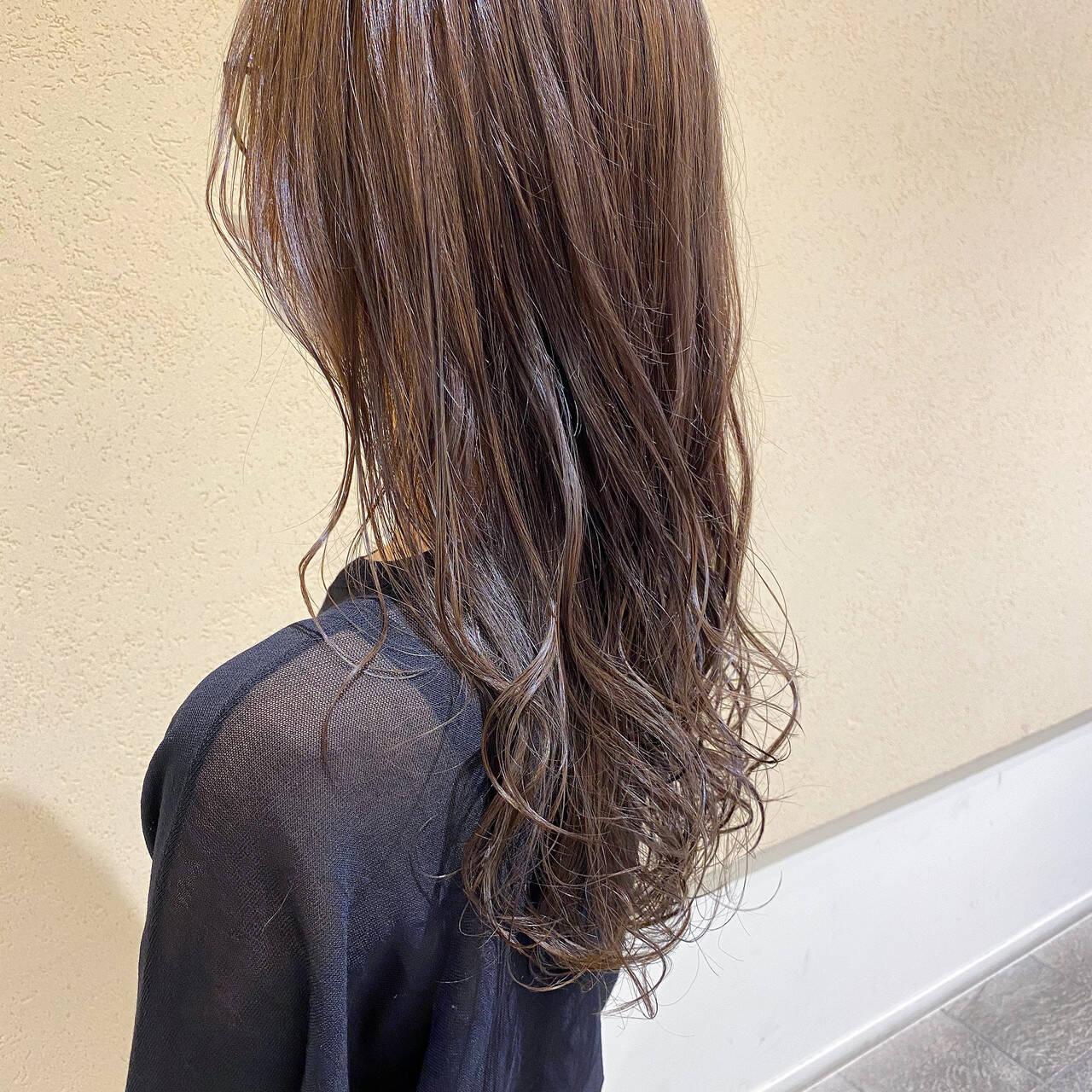 セミロング 大人女子 大人かわいい ナチュラルベージュヘアスタイルや髪型の写真・画像
