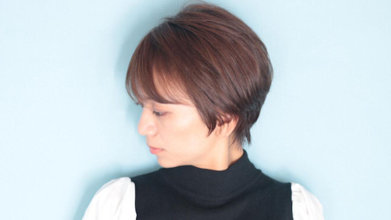 ショートヘア ベリーショート オフィス ショートヘアスタイルや髪型の写真・画像