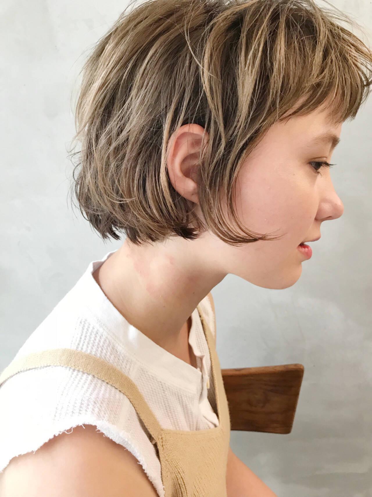 外国人風 ボブ 大人かわいい ブラウンヘアスタイルや髪型の写真・画像