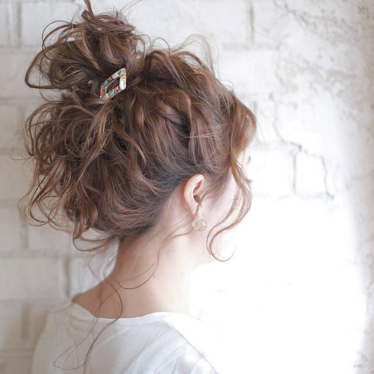 結婚式 夏 ヘアアレンジ パーティヘアスタイルや髪型の写真・画像
