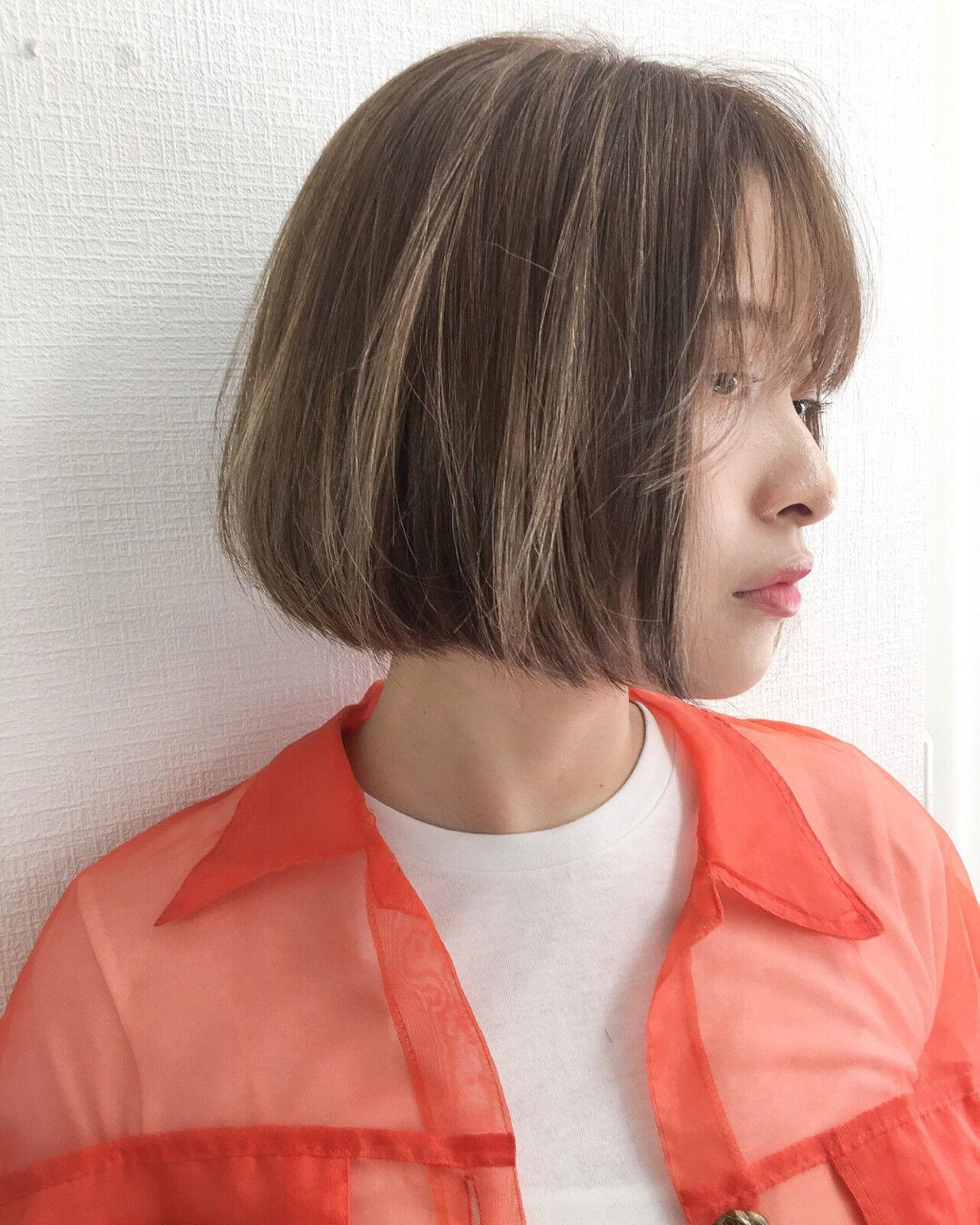 ゆるふわ 外国人風 ハイライト ボブヘアスタイルや髪型の写真・画像