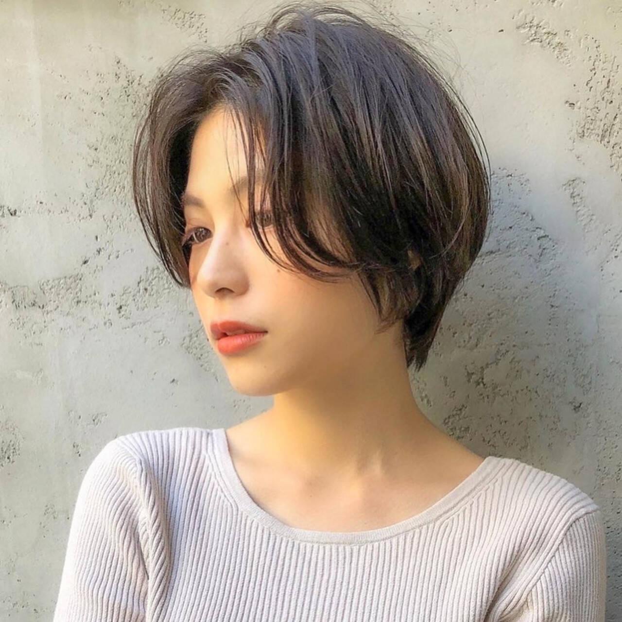 ナチュラル ベリーショート ミニボブ ショートボブヘアスタイルや髪型の写真・画像