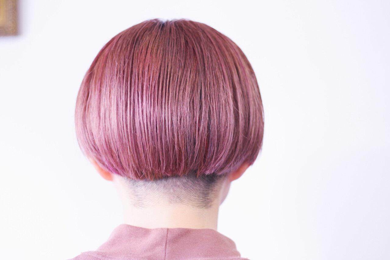 ナチュラル ベリーピンク ラベンダーグレージュ ピンクラベンダーヘアスタイルや髪型の写真・画像