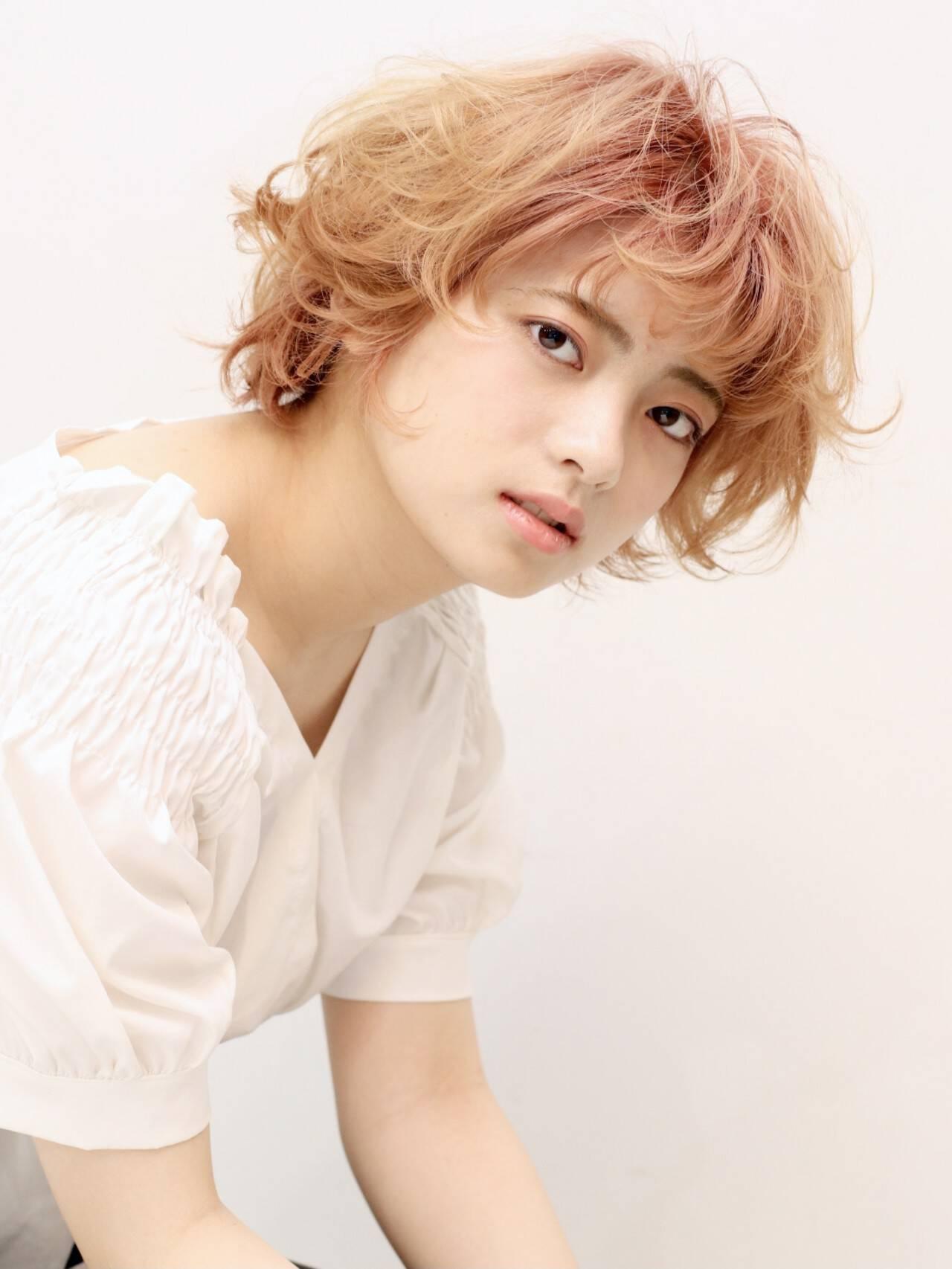 ショート ショートヘア ショートボブ フェミニンヘアスタイルや髪型の写真・画像