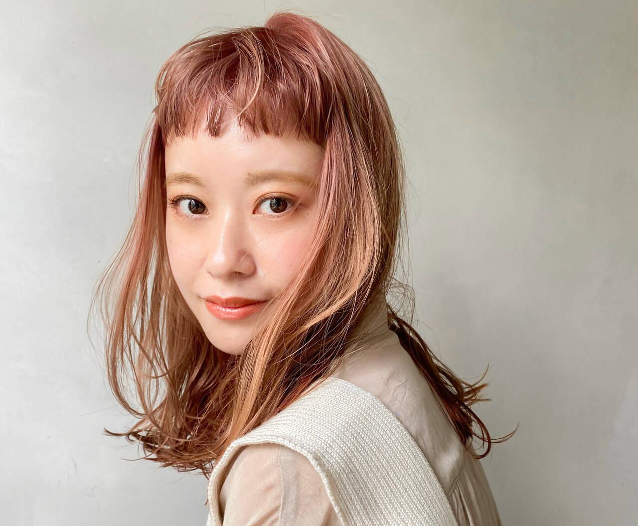 アウトドア レイヤーカット ベビーバング アンニュイほつれヘアヘアスタイルや髪型の写真・画像
