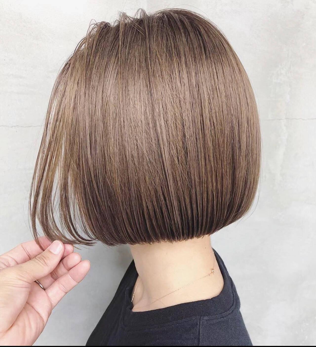 ボブ ミニボブ ショートボブ ナチュラルヘアスタイルや髪型の写真・画像