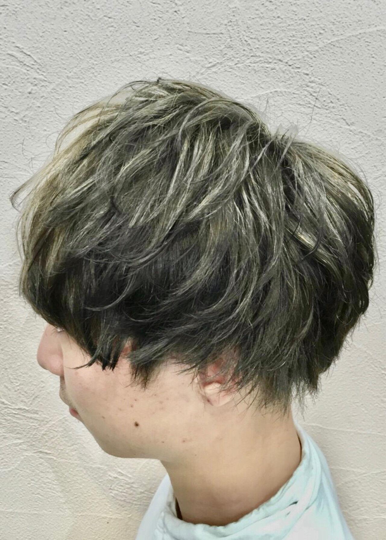 メンズ メンズカラー ブリーチ ショートヘアスタイルや髪型の写真・画像