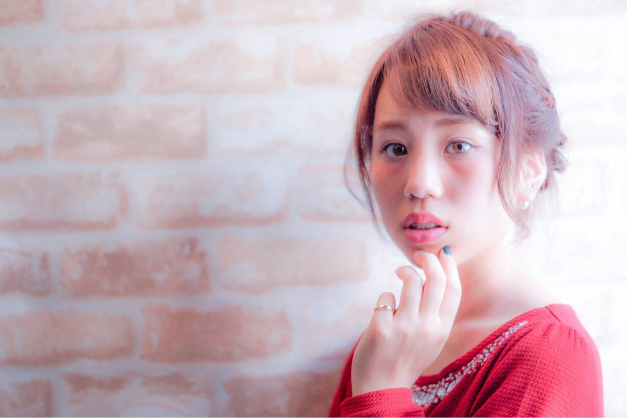 簡単ヘアアレンジ ピュア 前髪あり 大人かわいいヘアスタイルや髪型の写真・画像
