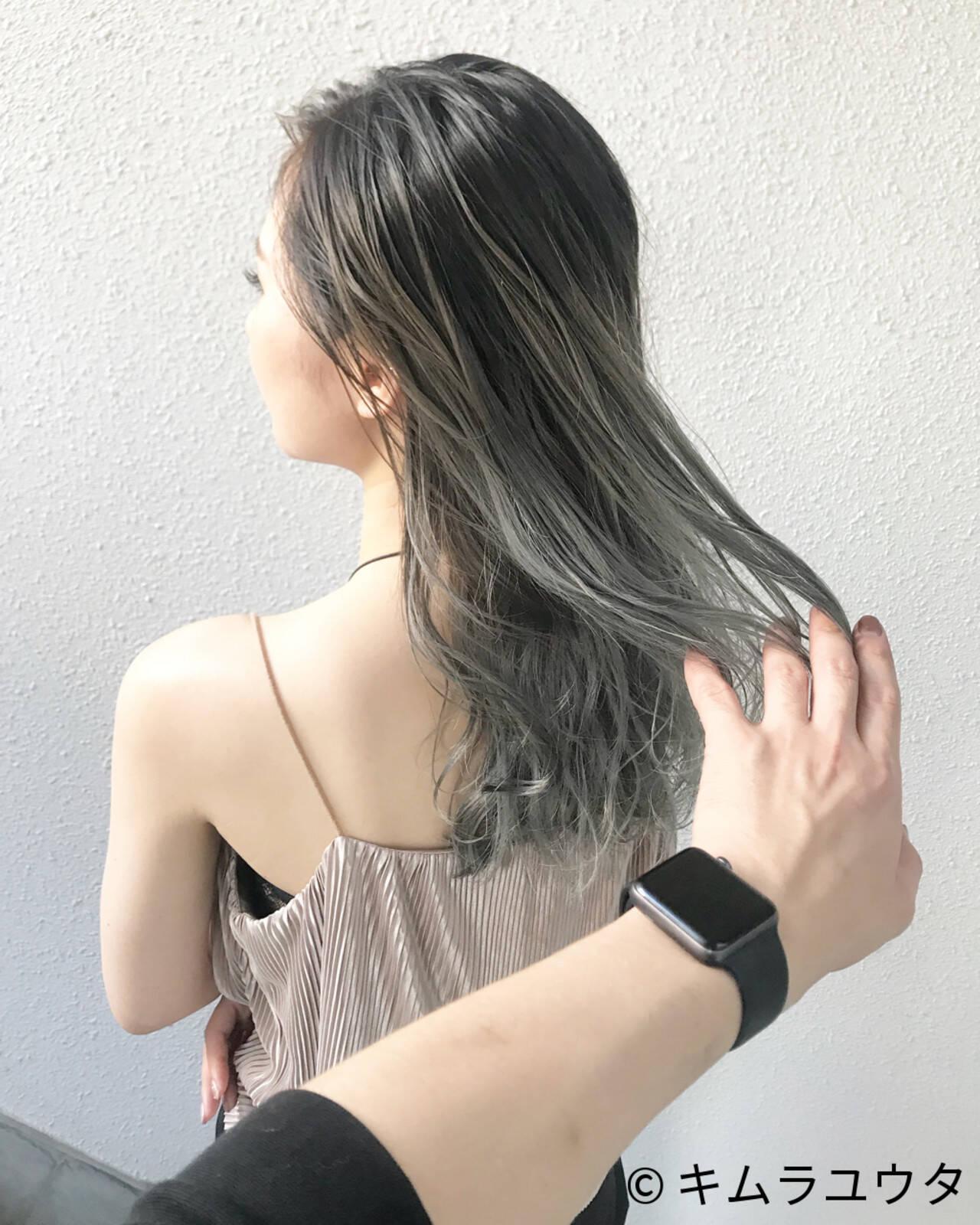 グラデーションカラー ブリーチ ハイトーン ガーリーヘアスタイルや髪型の写真・画像