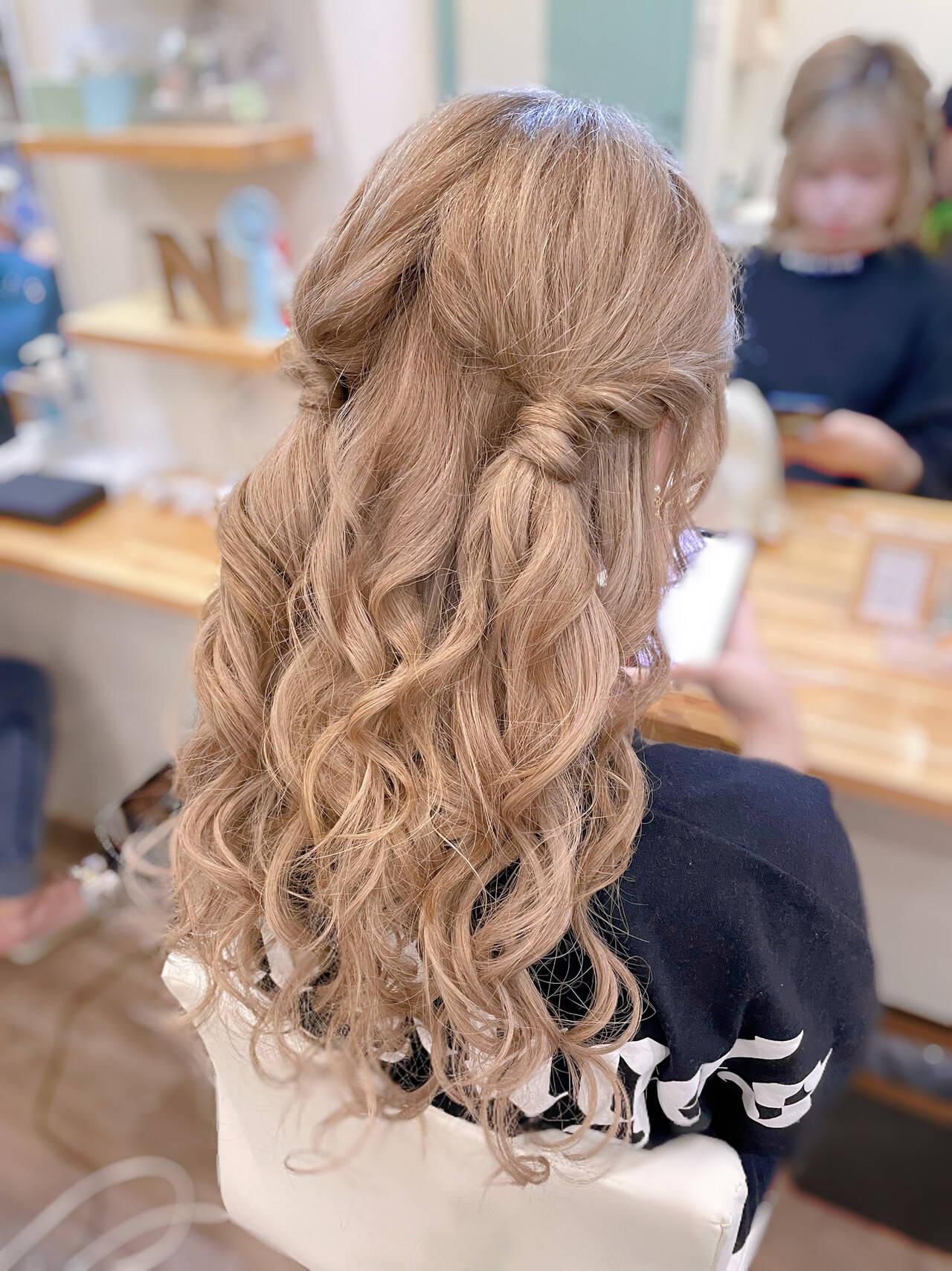 ガーリー ツインテール ハーフアップ ツインヘアスタイルや髪型の写真・画像